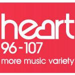 A logo of the Heart FM radio station
