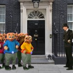 Photo of the Zoonies outside 10 Downing Street