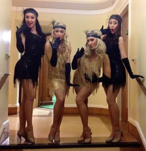 Gatsby dancers blowing a kiss to the camera