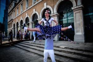 Jive dancers doing a lift