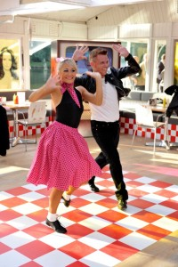 swing dancers performing at an event